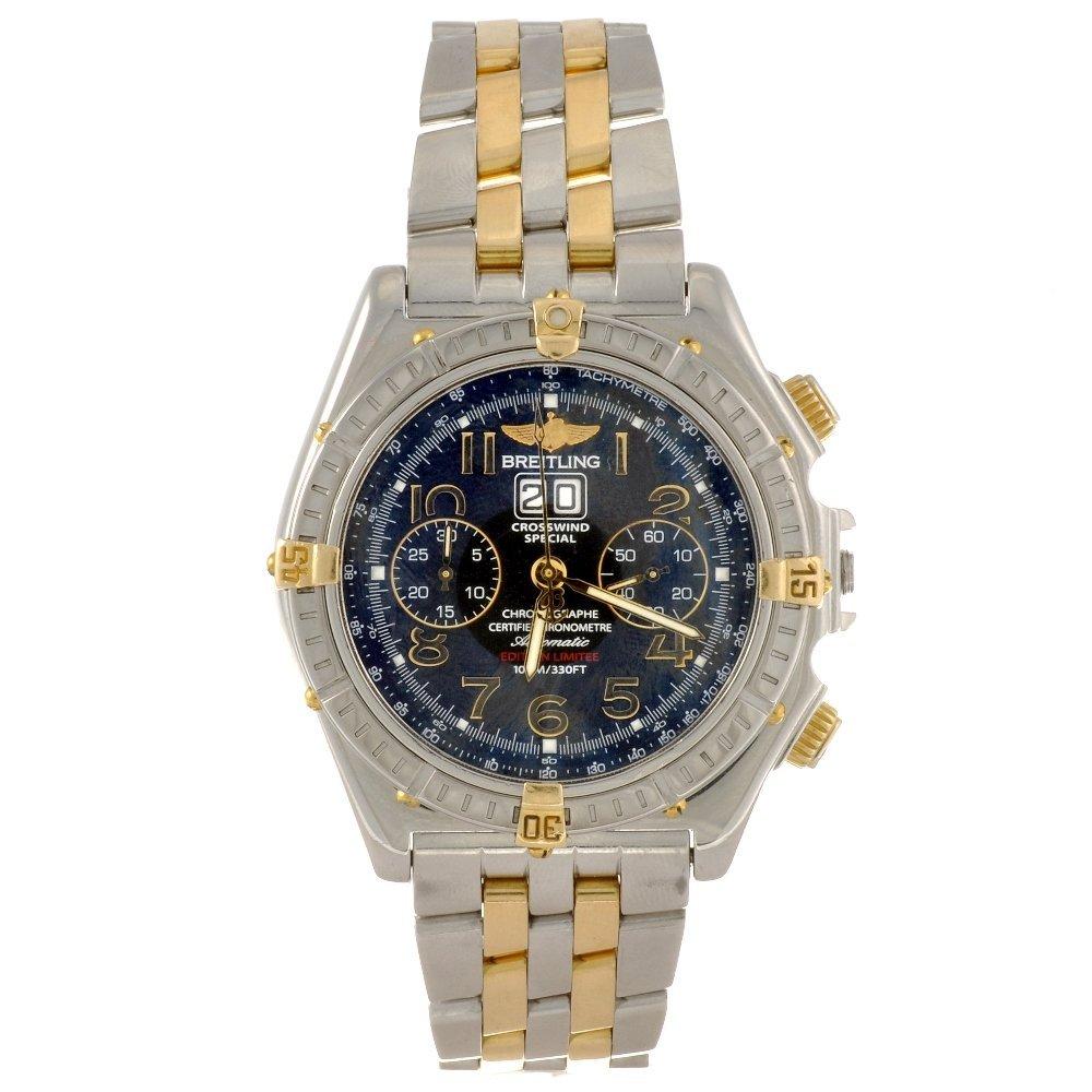 19: A bi-metal automatic chronograph gentleman's Breitl