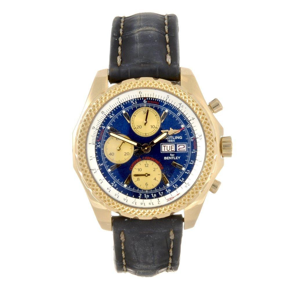 20: An 18k gold automatic chronograph gentleman's Breit