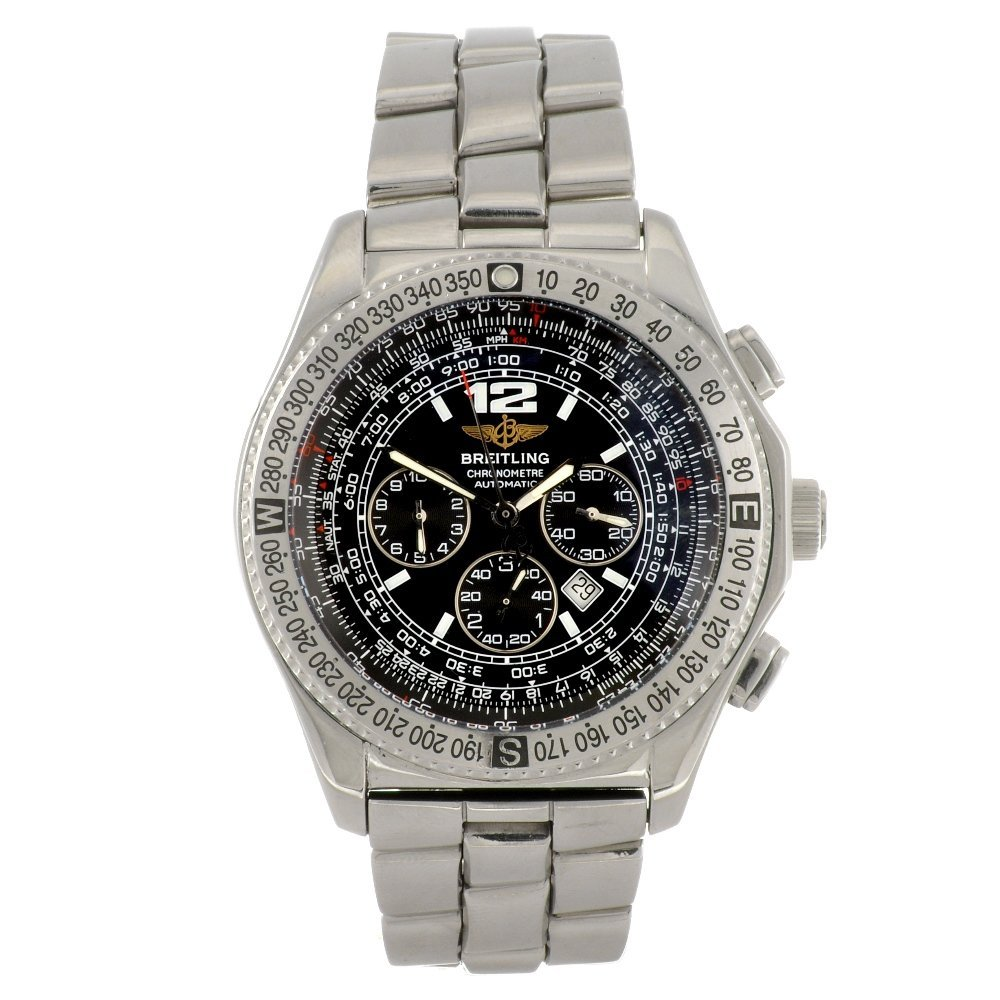 22: A stainless steel automatic gentleman's Breitling B