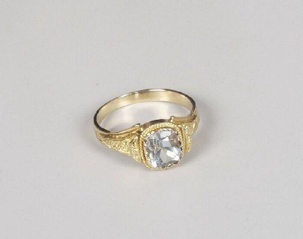 13: Late Edwardian gold mounted rectangular p
