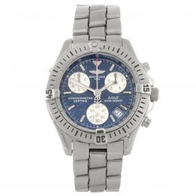14: (917004494) A stainless steel quartz chronograph ge