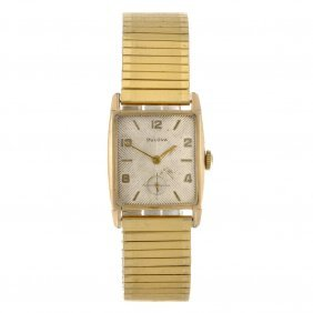 16: A 10k gold filled manual wind gentleman's Bulova br