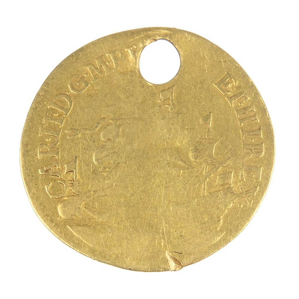 Charles II, gold Touchpiece.