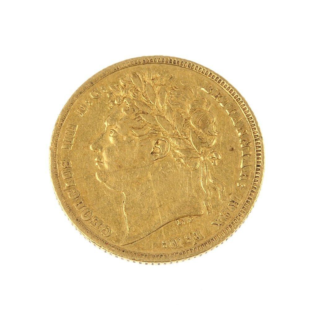 George IV, Sovereign 1821.