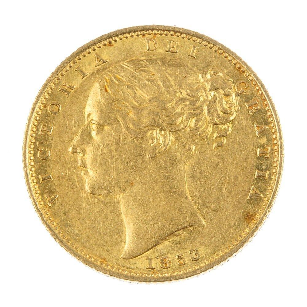 Victoria, Sovereign 1853.