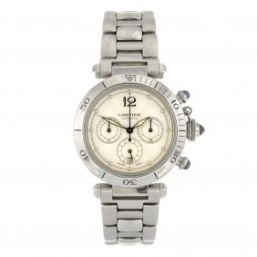 (93054) A stainless steel automatic chronograph Cartier