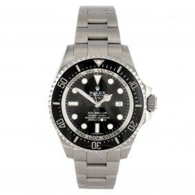 A stainless steel automatic gentleman's Rolex Deepsea b