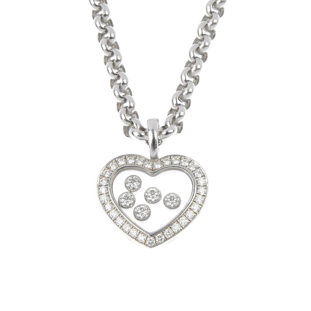 CHOPARD - a 'Happy Diamonds' heart pendant.
