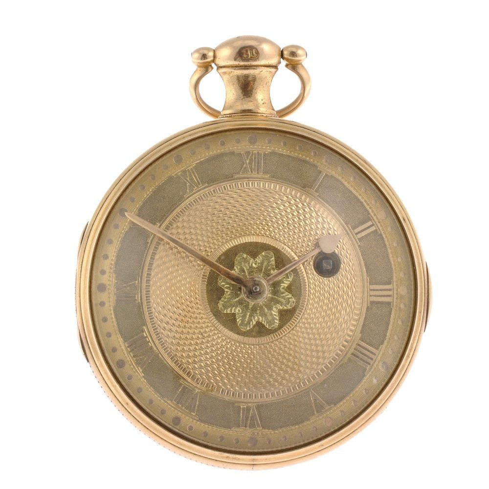 A William IV 18ct gold key wind open face pocket watch