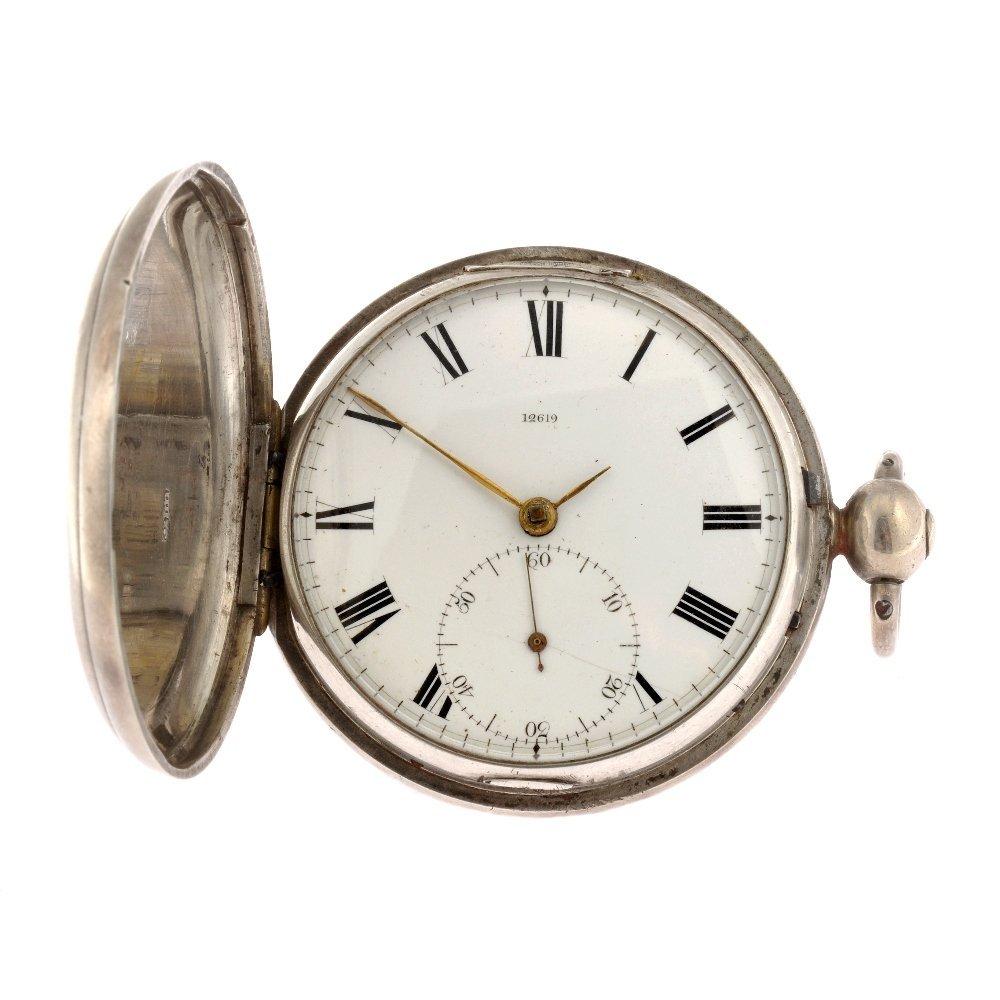 A George IV key wind full hunter pocket watch by James
