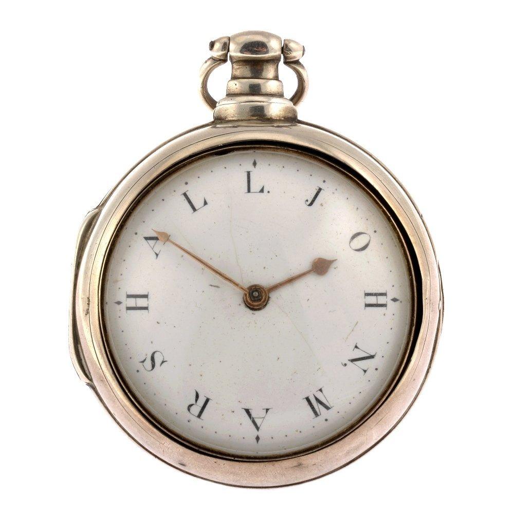 A George III silver key wind par case pocket watch.