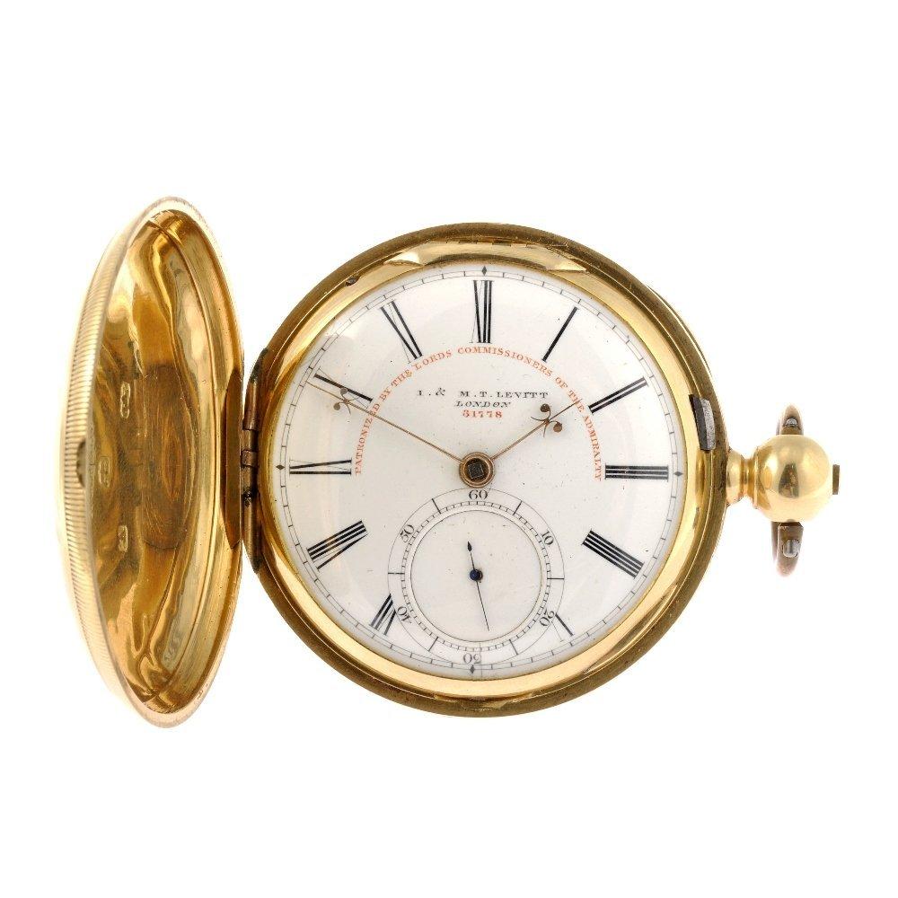 A William IV 18ct gold key wind full hunter pocket watc