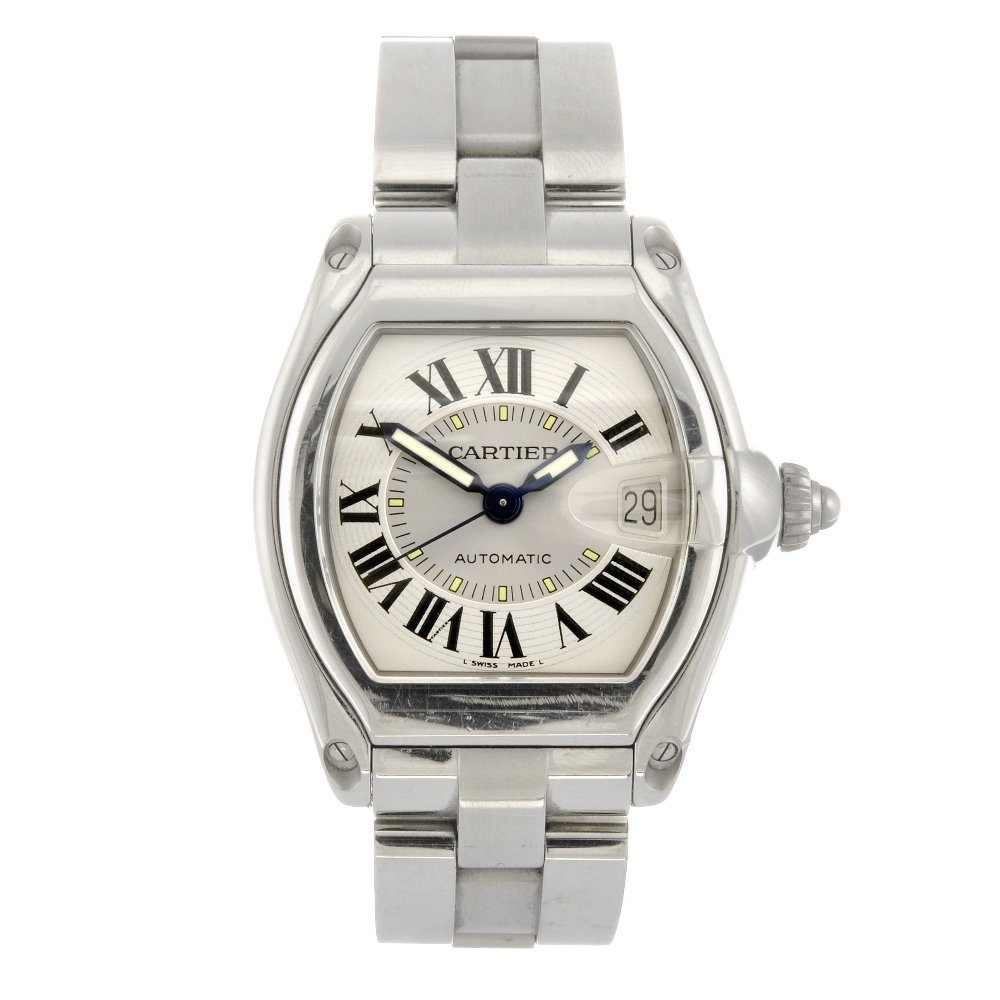 (116190293) A stainless steel automatic Cartier Roadste