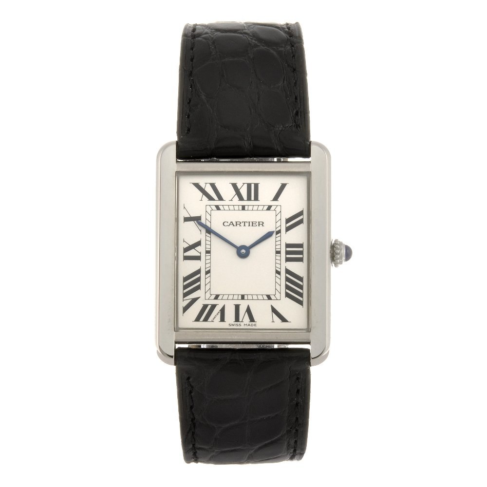 (116190618) A stainless steel quartz Cartier Tank Solo