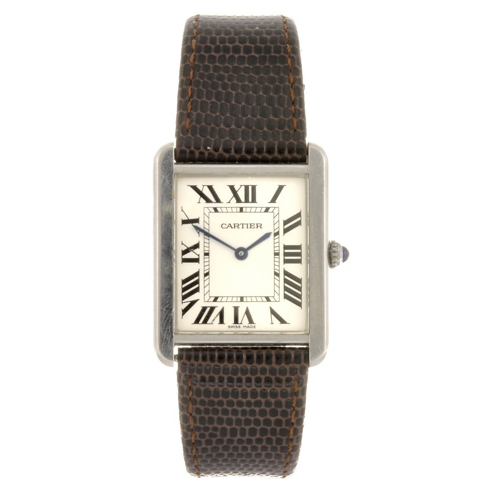 (116191232) A stainless steel quartz Cartier Tank Solo