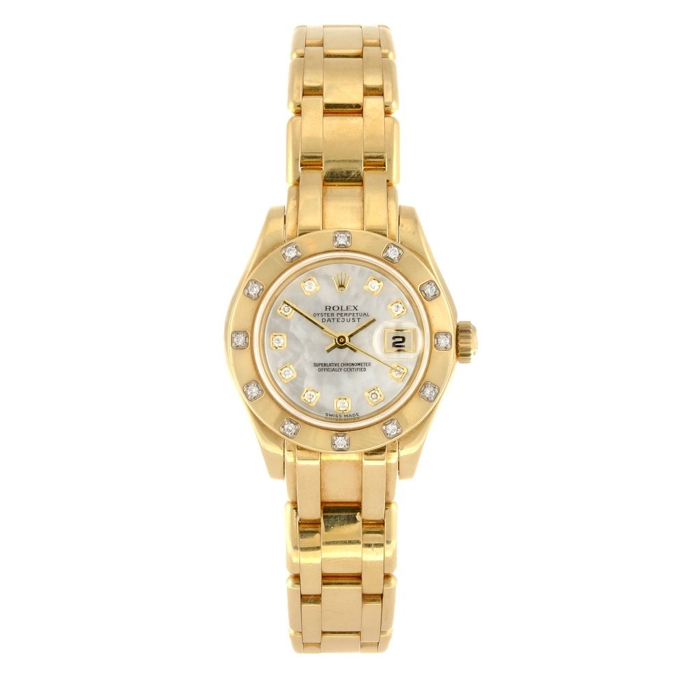 (116190975) An 18k gold automatic lady's Rolex Pearlmas