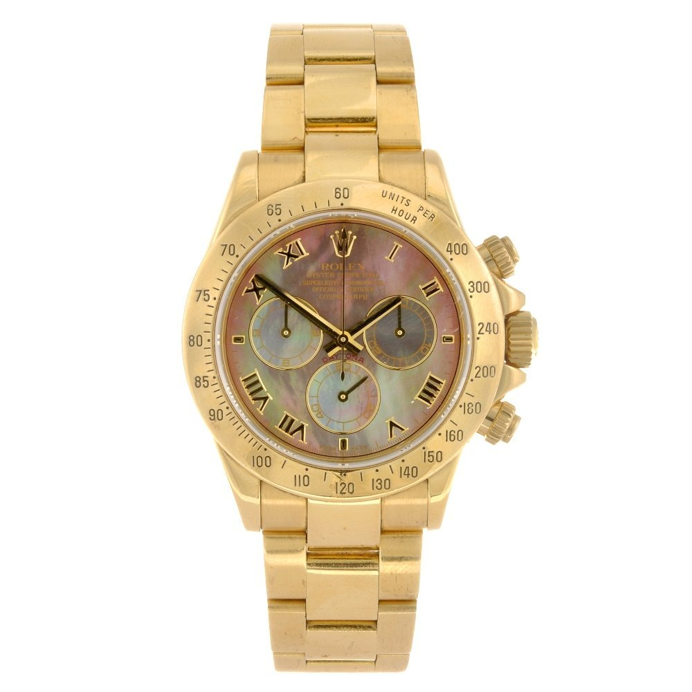 (103793) An 18k gold automatic chronograph gentleman's