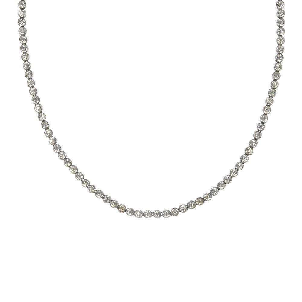 An early 20th century paste line necklace.