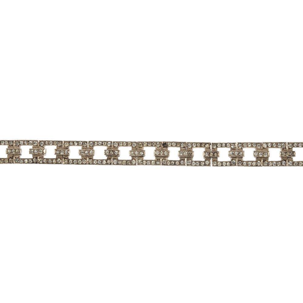 A mid 20th century silver paste bracelet.