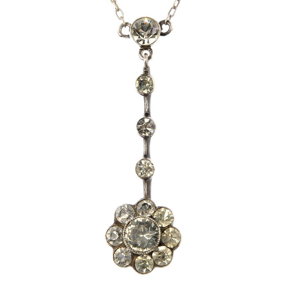 KNOLL & PREGIZER - a silver and paste pendant and a bro