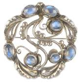 GEORG JENSEN  a moonstone brooch