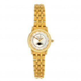 (527446-1-A) An 18k gold automatic lady's Blancpain bra