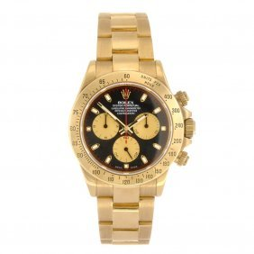 (528247-4-A) An 18k gold automatic gentleman's Rolex Da