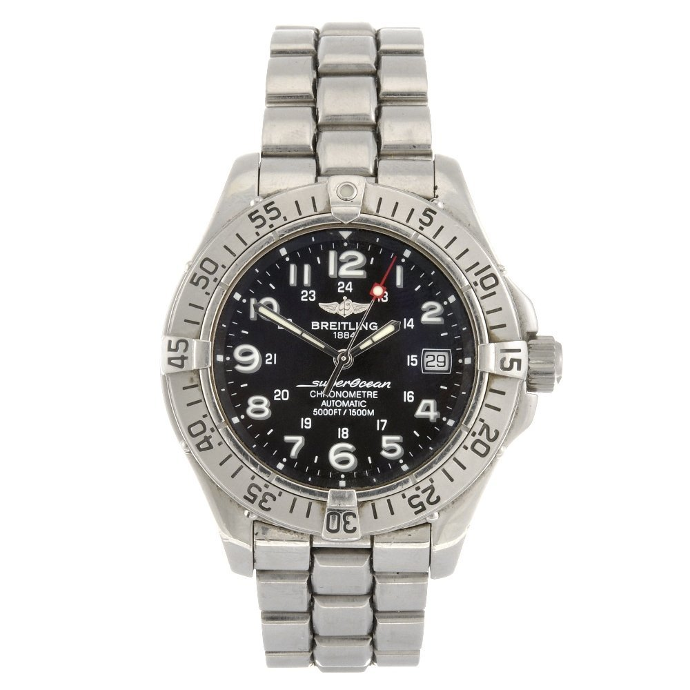 (001416) A stainless steel automatic gentleman's Breitl