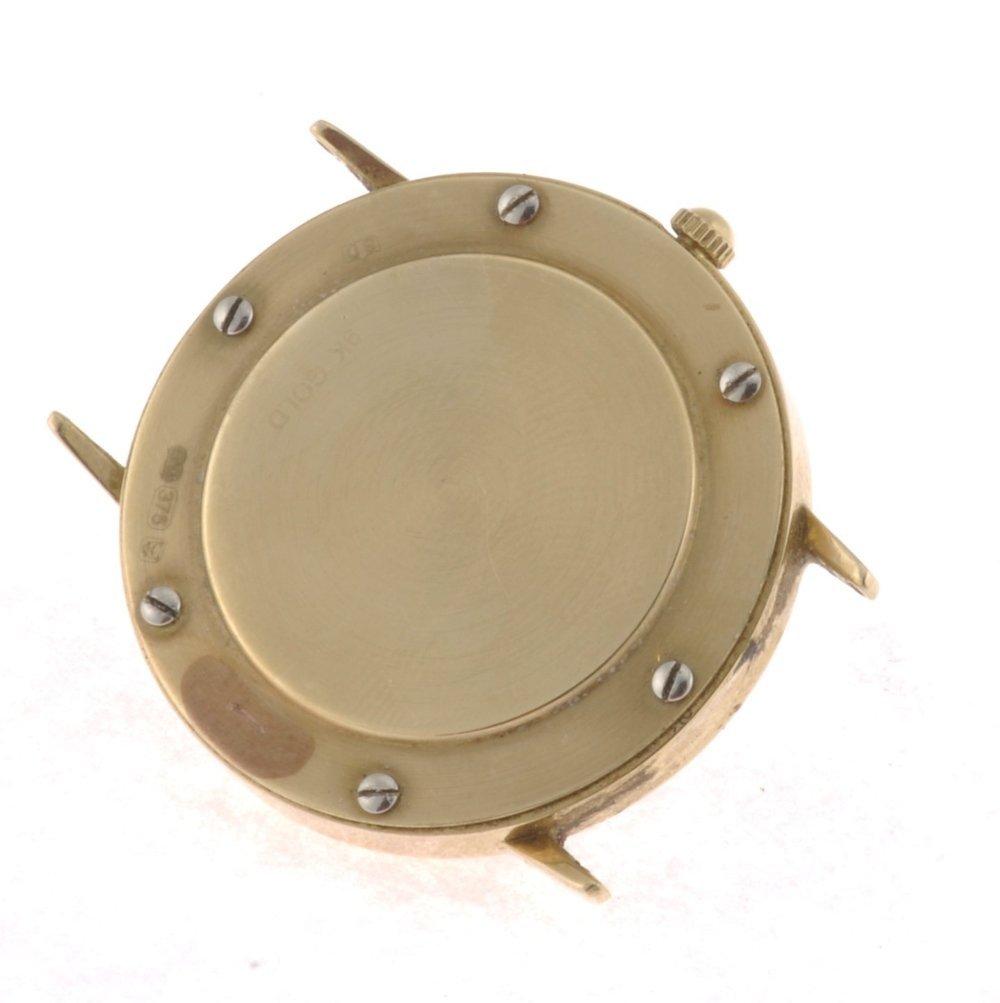 (004556) A 9ct gold quartz Rotary Elite watch head. - 2