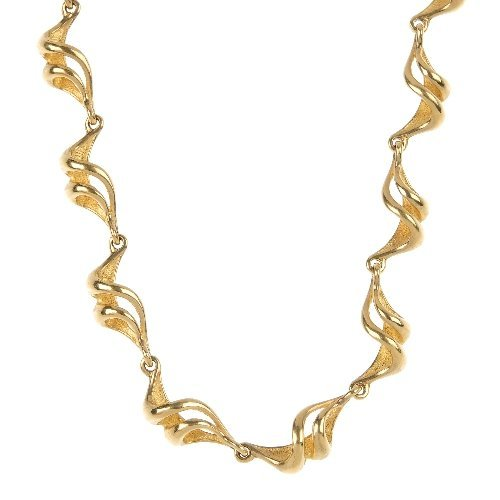 A 14ct gold fancy-link necklace.
