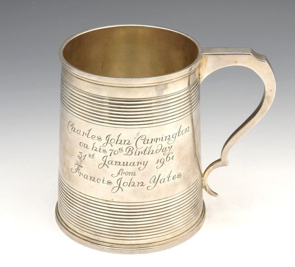 An early nineteenth century large silver mug by William