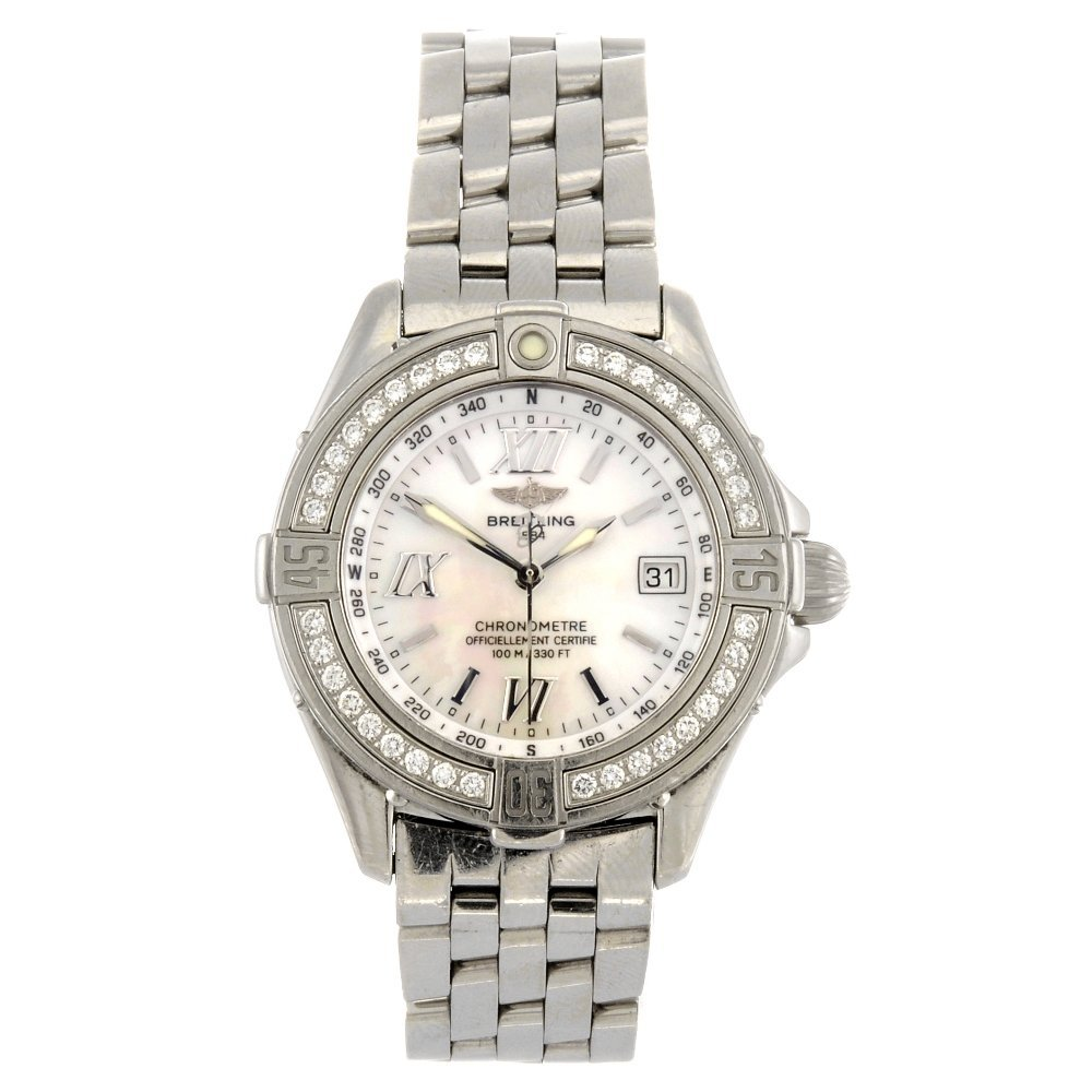 (133100948) A stainless steel quartz lady's Breitling B