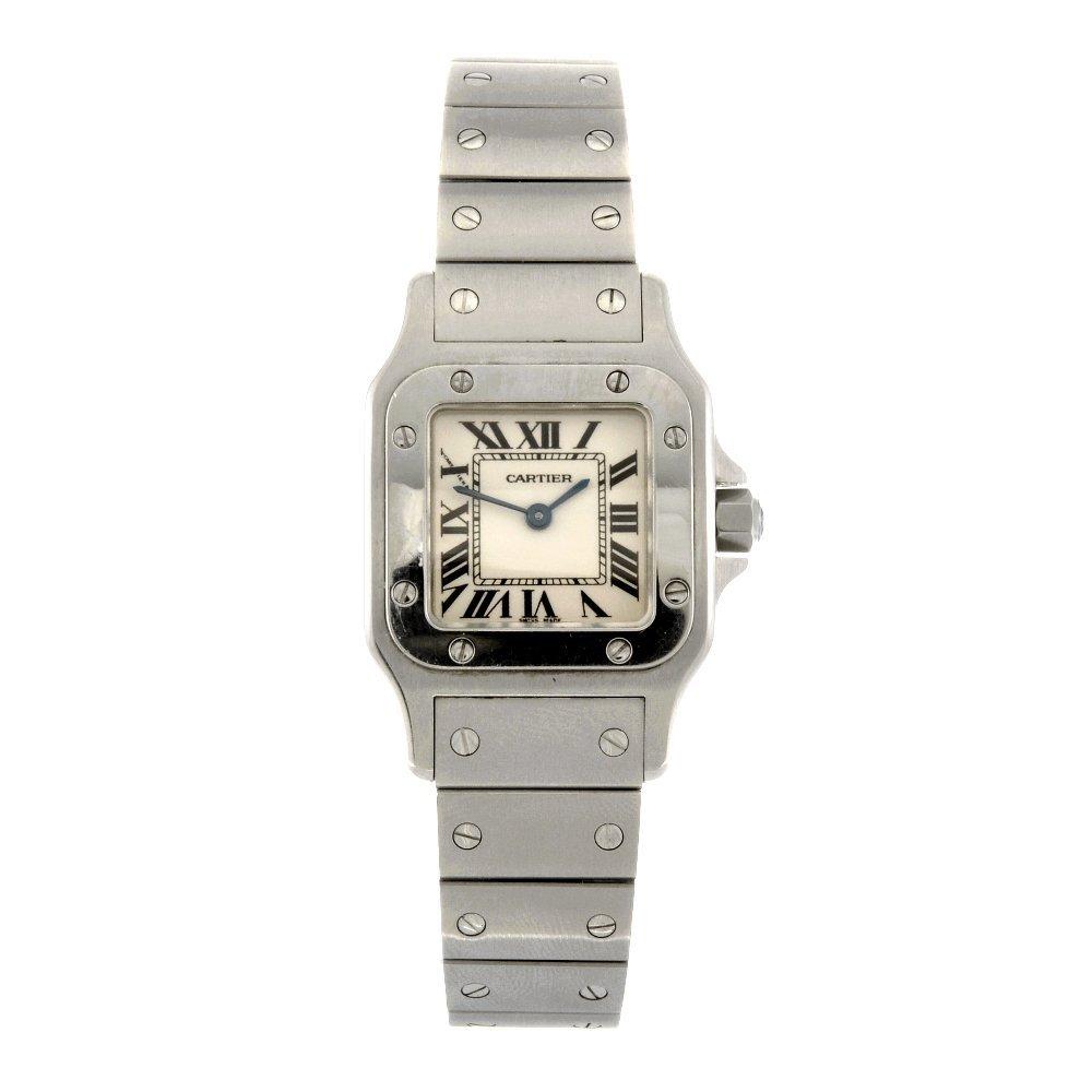 (1102017500) A stainless steel quartz Cartier Santos br