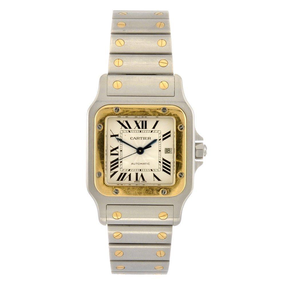 (116192315) A bi-metal automatic Cartier Santos bracele