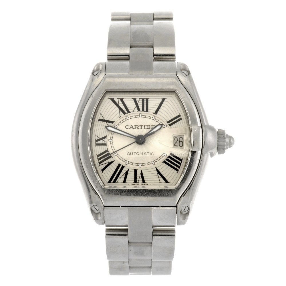 (230969154) A stainless steel automatic Cartier Roadste
