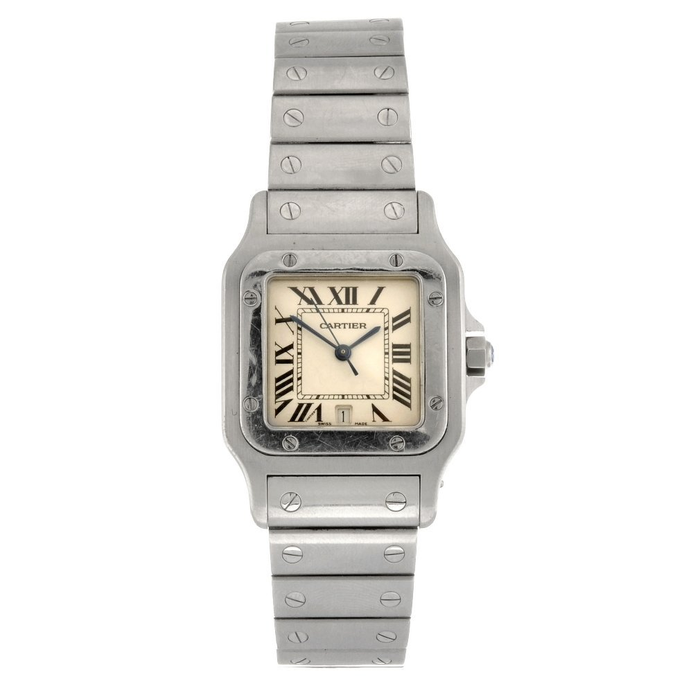 (0058034) A stainless steel quartz Cartier Santos brace