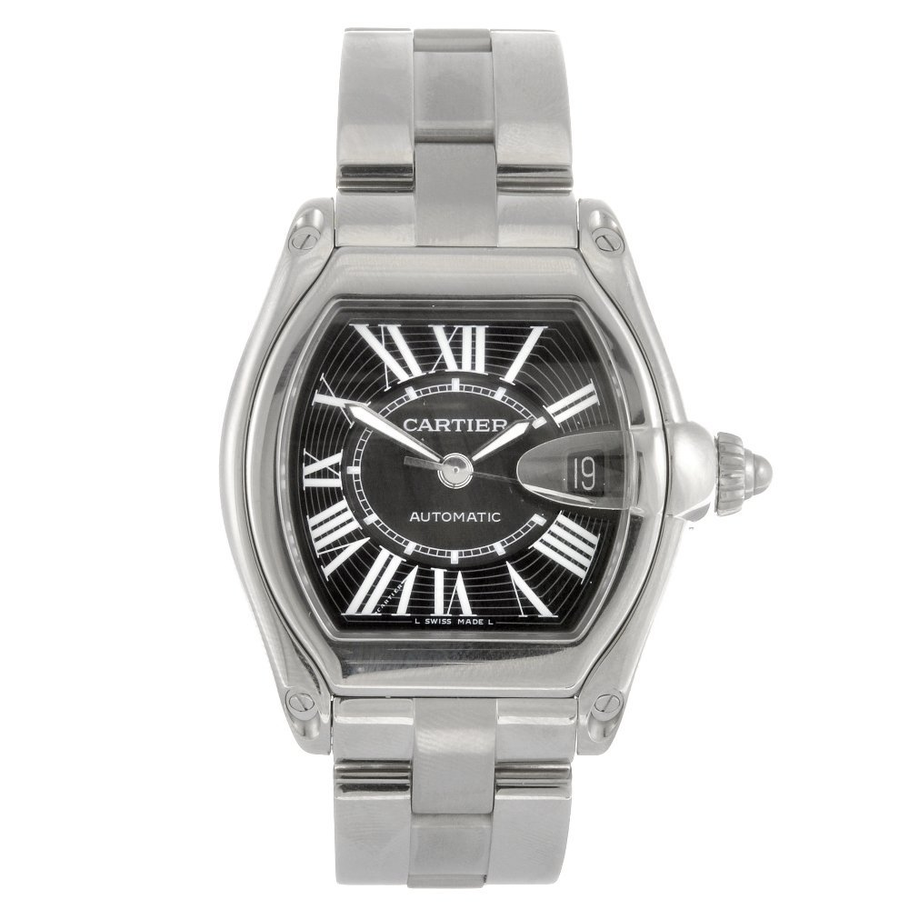 (95587) A stainless steel automatic Cartier Roadster br