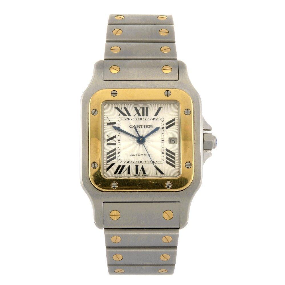 (119176149) A bi-metal automatic Cartier Santos bracele