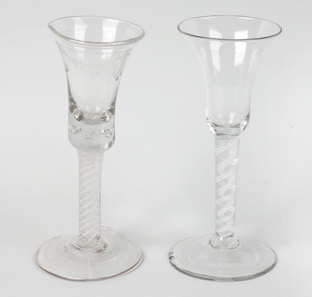 Two ale glasses
