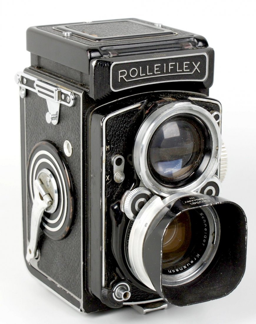 A group of Franke & Heidecke 'Rollei' cameras and equip