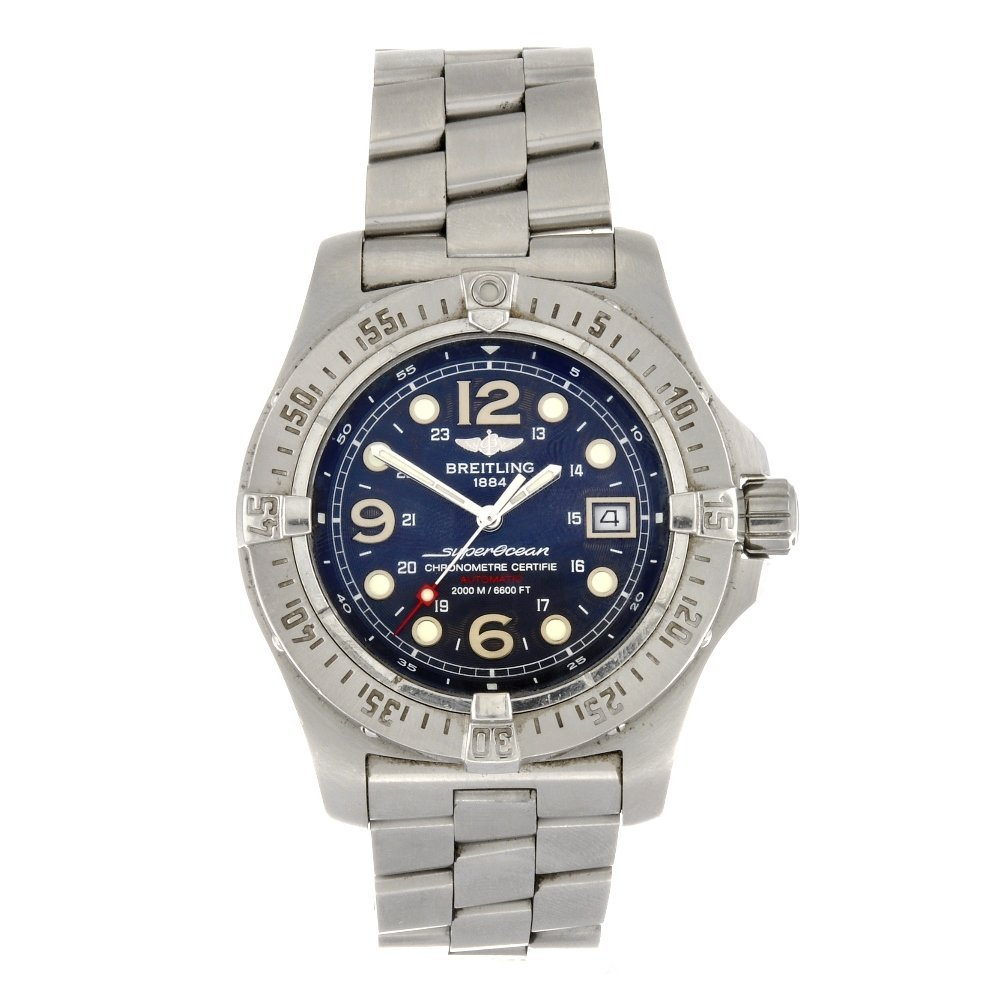 (6111) A stainless steel automatic gentleman's Breitlin