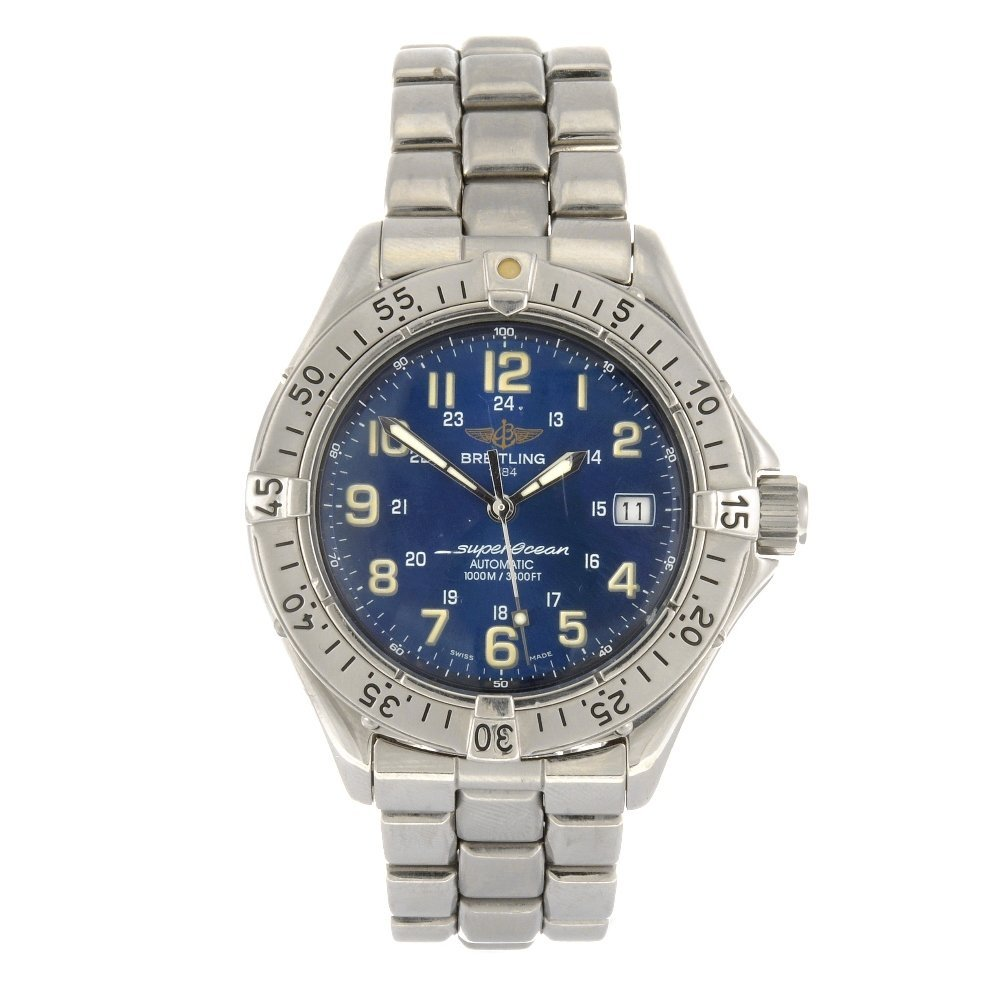 (000945) A stainless steel automatic gentleman's Breitl