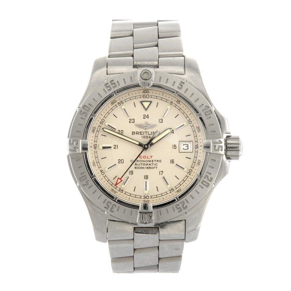 (413016120) A stainless steel automatic gentleman's Bre