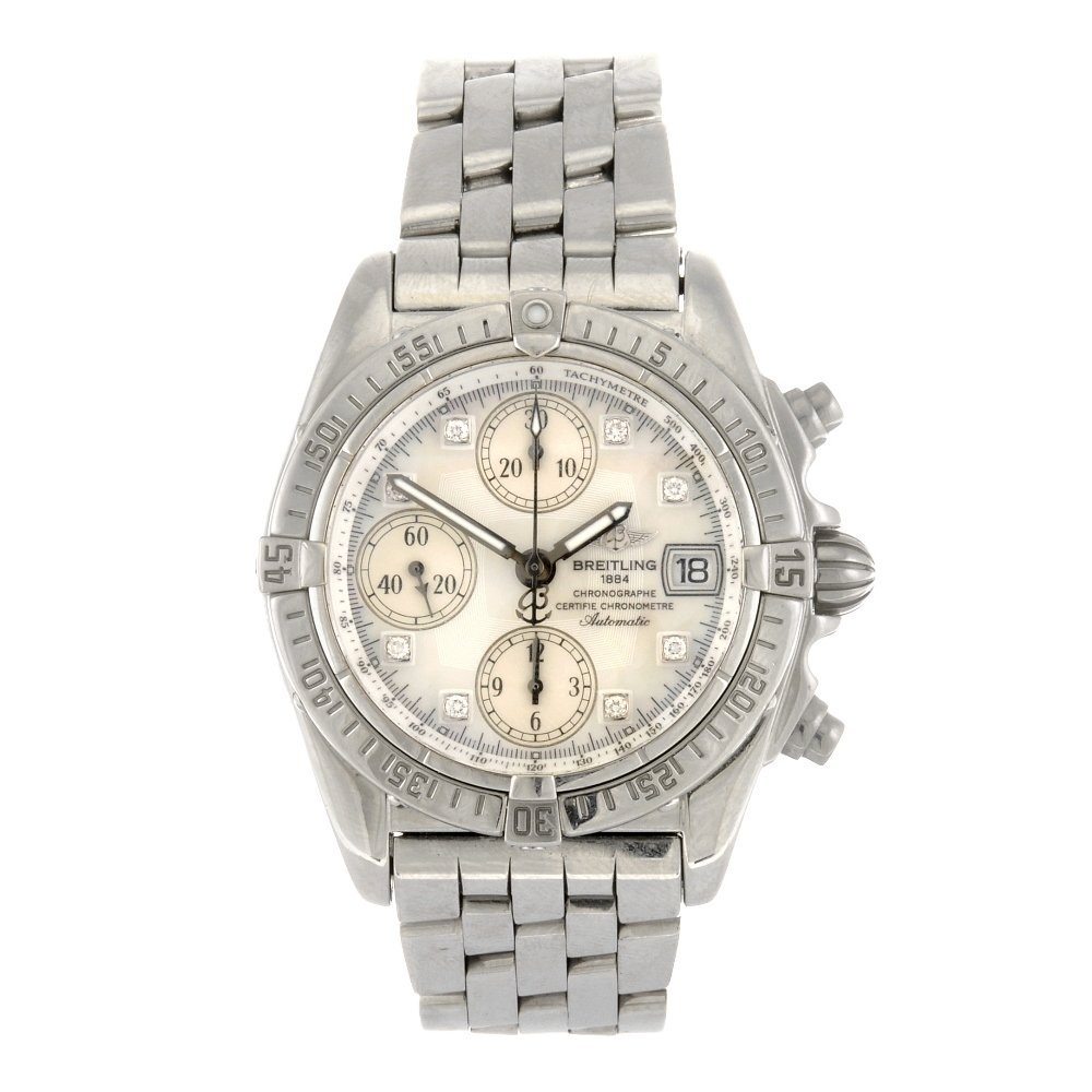 (902007174) A stainless steel automatic gentleman's Bre