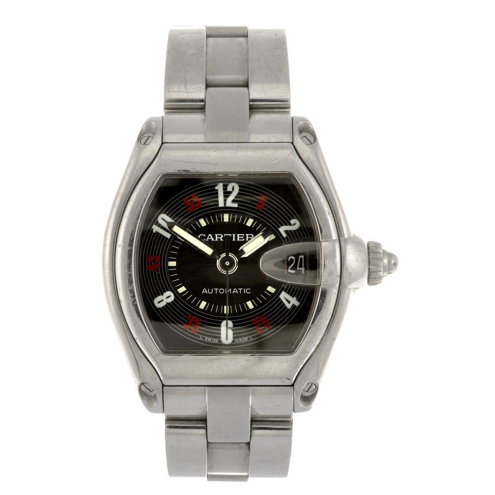 (94703) A stainless steel automatic Cartier Roadster br