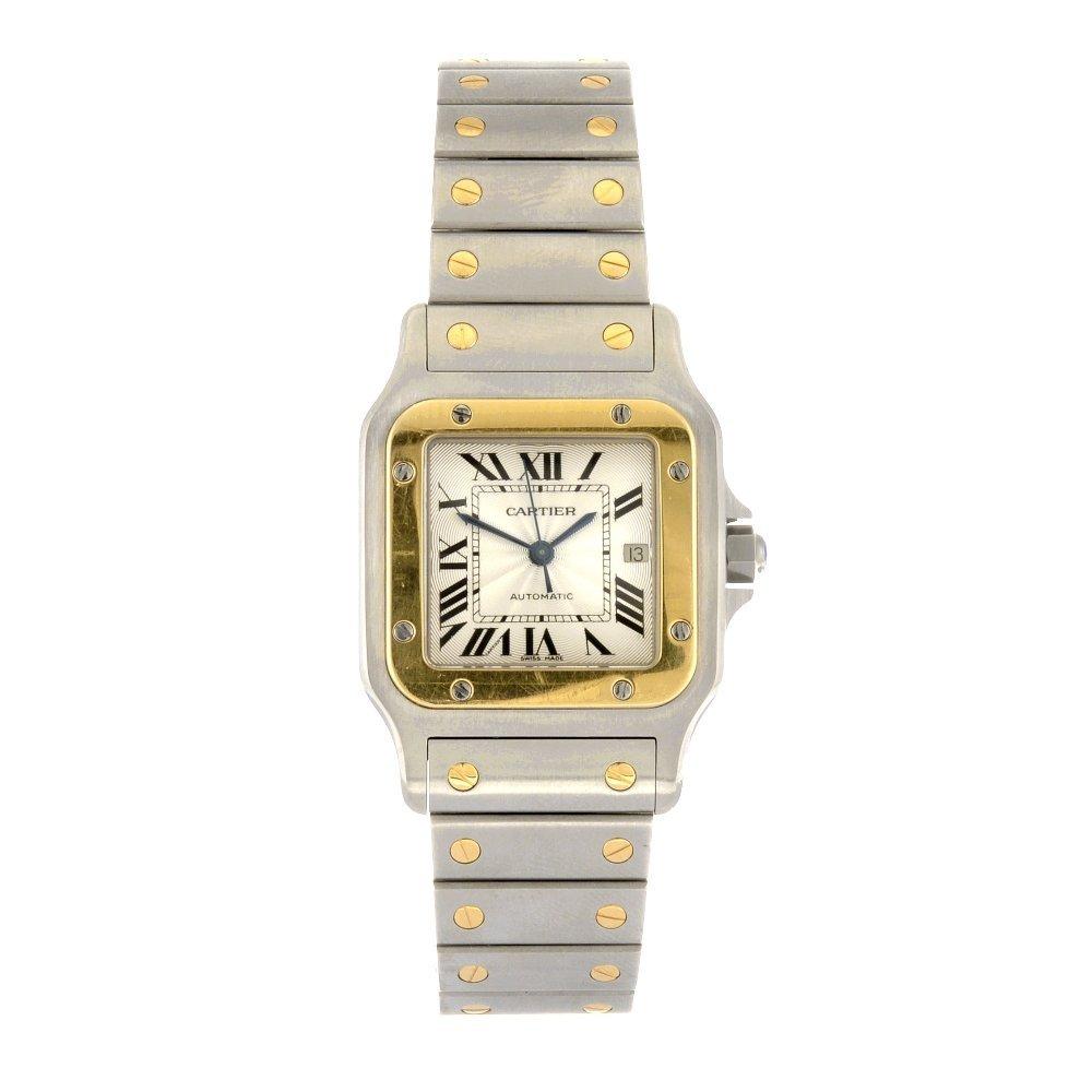 (811006394) A bi-metal automatic Cartier Santos bracele