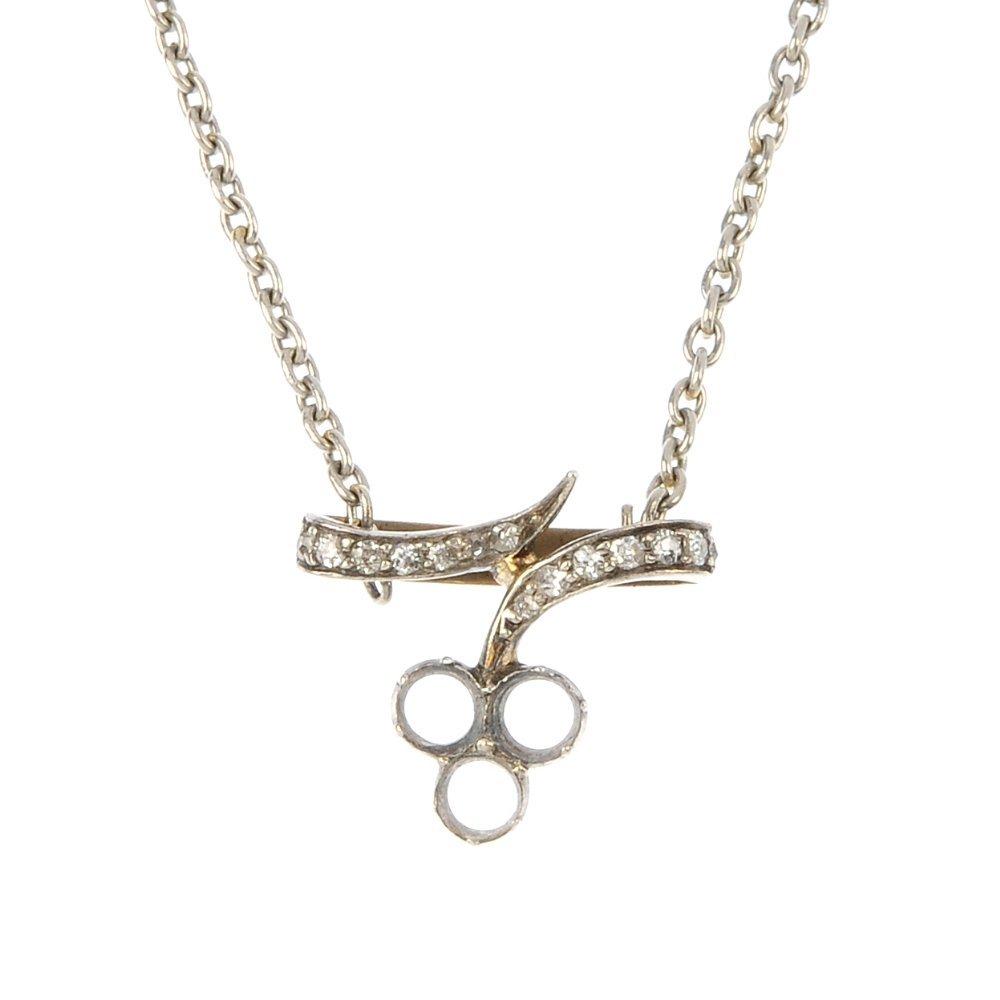 A diamond pendant.