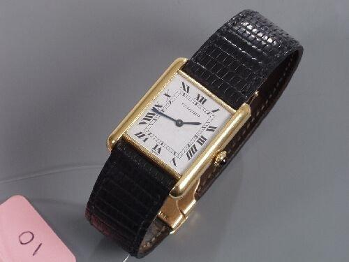 2010: CARTIER - gentleman's 1960's 18ct gold