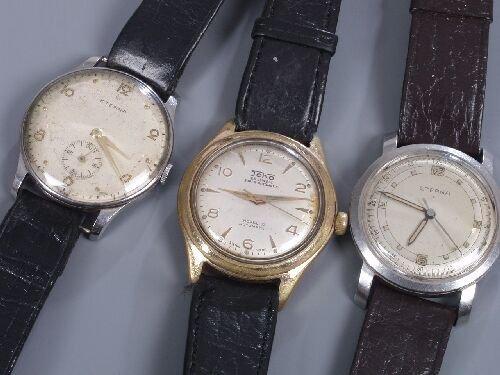 2012: ETERNA - two 1950's steel cased watches