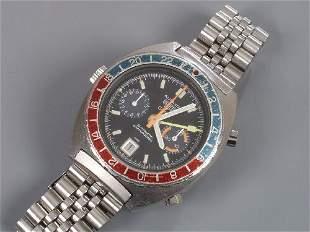HEUER - gentleman's steel Autavia GMT c